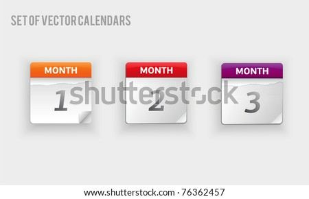 set of vector calendars - stock vector