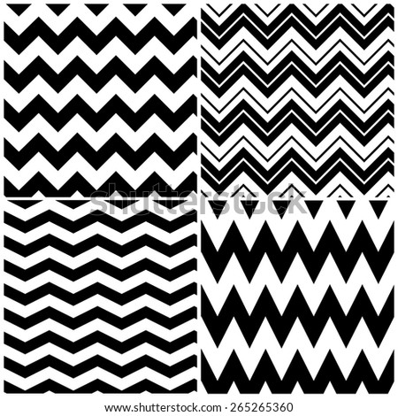 Set of vector chevron patterns - stock vector