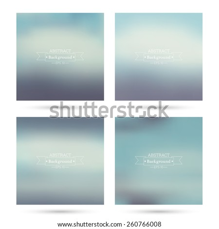 Set of vector colorful abstract backgrounds blurred. For mobile app, book cover, booklet, background, poster, web sites, annual reports. blue, green, purple, turquoise - stock vector