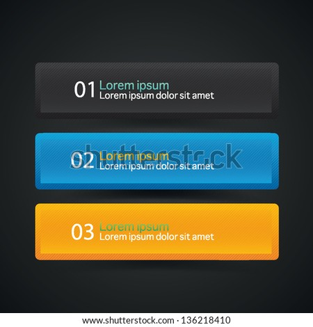 Set of vector colorful banners - stock vector