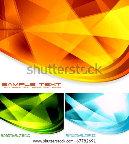 Set of vector colourful backgrounds - stock vector