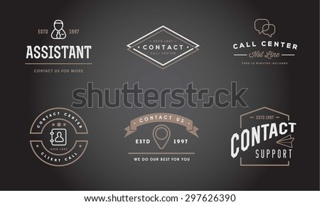 Set of Vector Contact Us Support Icons and Assistance can be used as Logo or Icon in premium quality  - stock vector