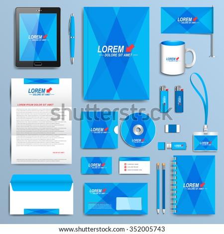 Set Vector Corporate Identity Template Modern Stock Vector ...