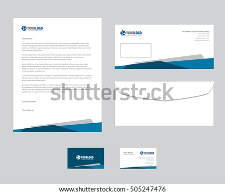 Set vector corporate identity templates modern stock vector set of vector corporate identity templates modern business stationery design accmission Image collections