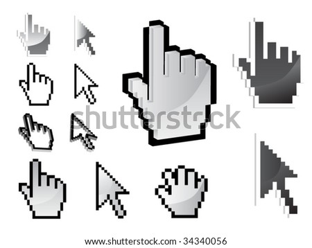 set of vector cursor icons