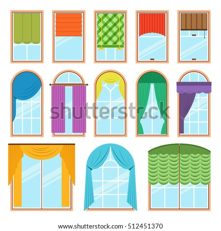 Detailed window set isolated vector illustration stock for Window design vector