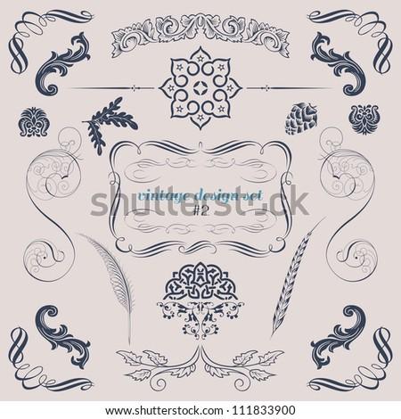 set of vector decorative design elements - stock vector