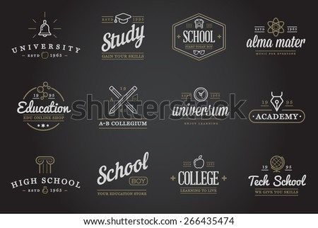 Set of Vector Education Icons Illustration can be used as Logo or Icon in premium quality  - stock vector