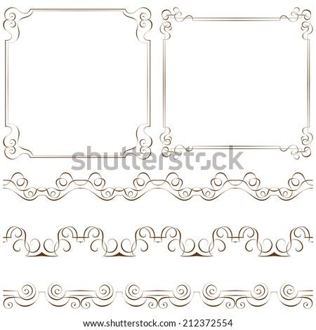 set of vector elegant frames and borders - Elegant Frames