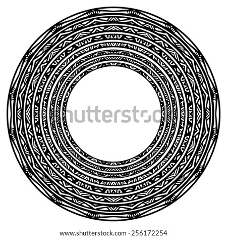 Set of vector ethnic circle / labels, vector - stock vector
