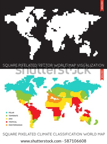 Vector Flat World Map Infographic Map Stock Vector - Flat map of the world