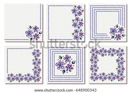 Set vector floral frame card border stock vector hd royalty free set of vector floral frame card border greeting cards different template with m4hsunfo