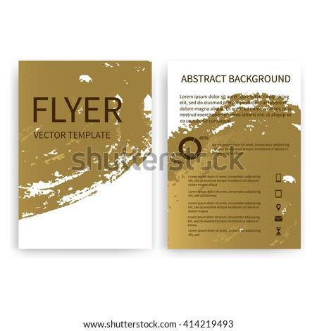 Set Vector Flyer Templates Gold Watercolor Stock Vector Hd Royalty