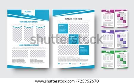 Set Vector Flyers Abstract Diagonal Design Stock Vector 725952670