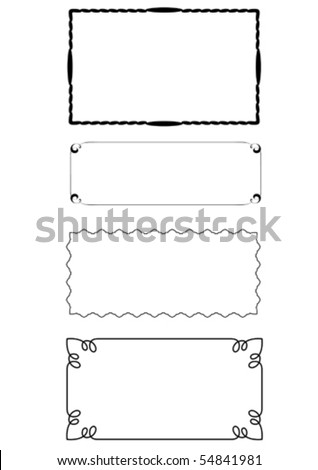 set of 3 vector frames - stock vector