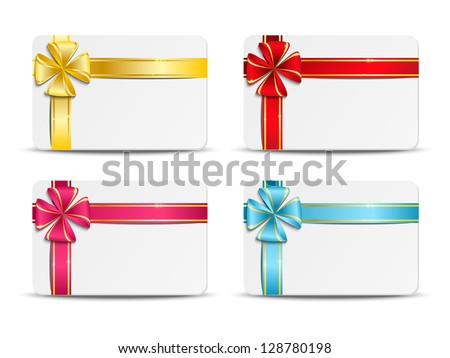 Set of vector gift cards - stock vector