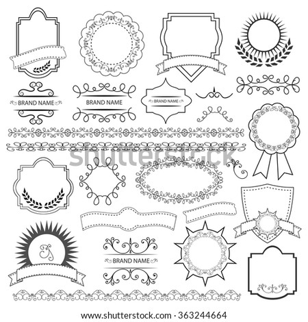Set of vector graphic elements for design - stock vector