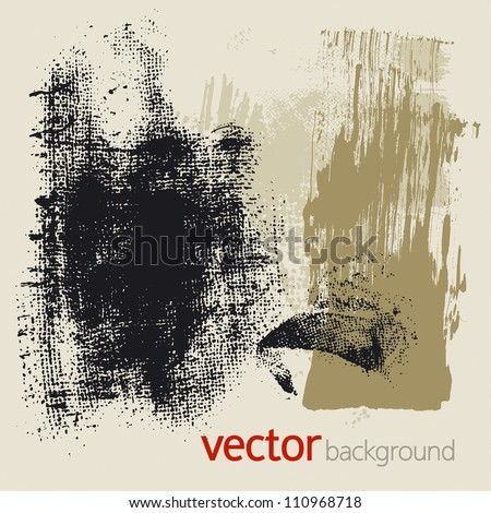Set of vector grunge elements - stock vector