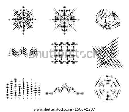 Set of vector halftone pattern