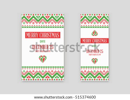 set vector happy new year merry stock vector 515374600 shutterstock