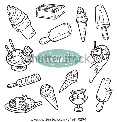 Set of vector ice cream - stock vector