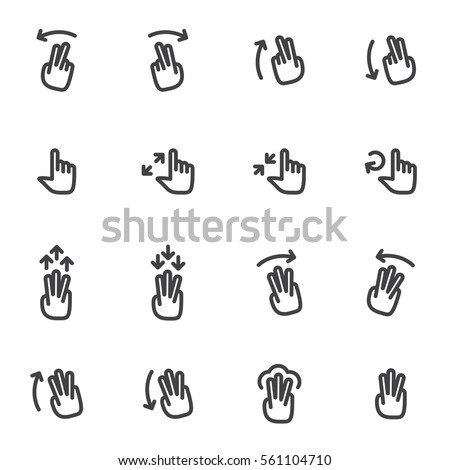 hand signs icons stock vector 272149022 shutterstock