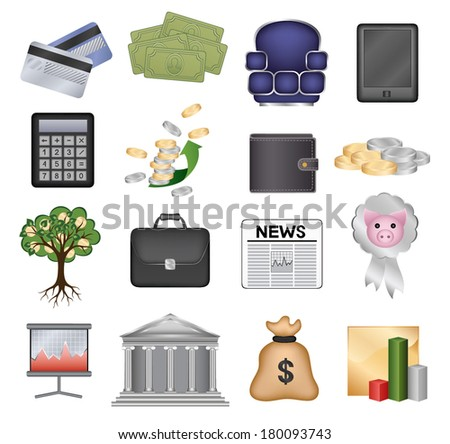 Set of vector icons (money and finance)