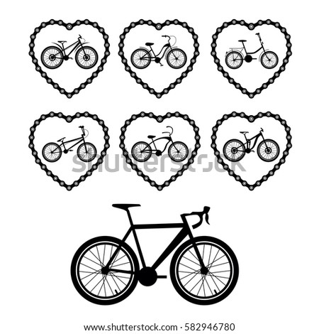 Bicycles Set Bicycle Parts 582928009 on gear cog clip art