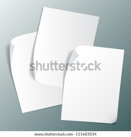 set of vector images of paper stickers - stock vector