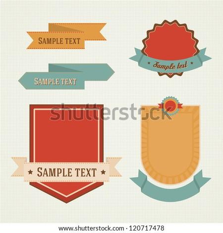 Set of vector labels - stock vector