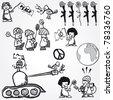 Set of Vector peace concept symbol anti-war - stock vector