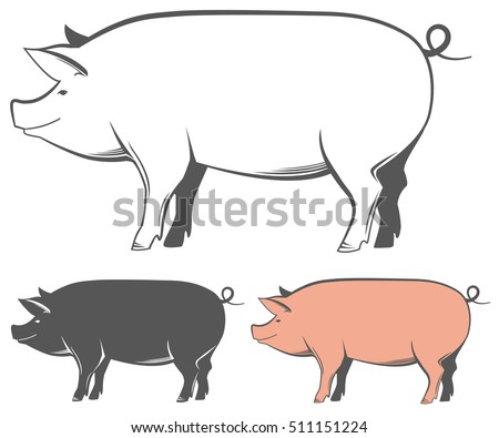 Pig Outline Stock Images, Royalty-Free Images & Vectors ...