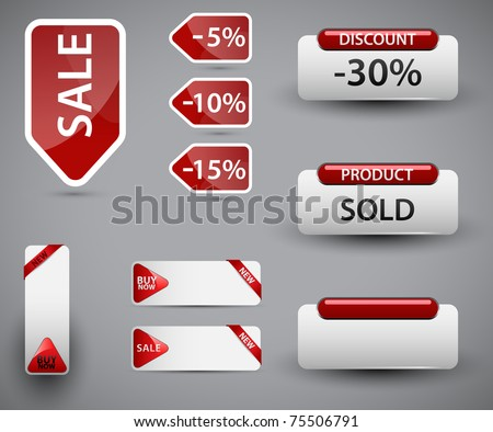 Set of vector price tags. You can use it for any sale time or seasons.