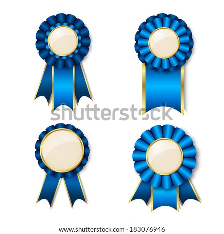 set vector prize ribbons place text stock vector royalty free