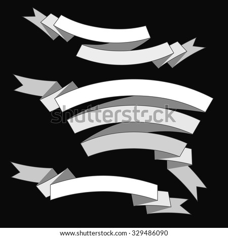 Set of vector ribbon banners