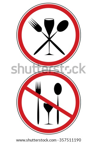 set of vector road signs with covers - stock vector
