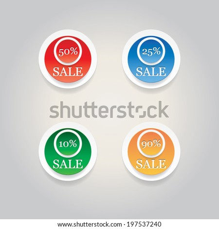 Set of vector sale labels