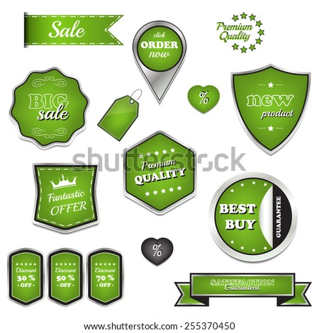 Set of vector sale labels and icons - stock vector