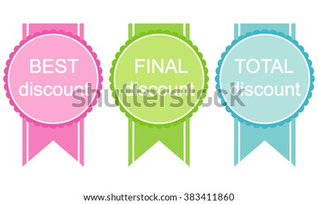 Set of vector sales labels and sticker gdiscounts - stock vector