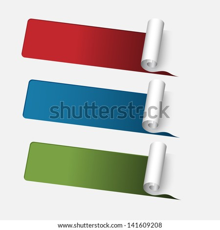 Set of vector sample Stickers for various options - stock vector