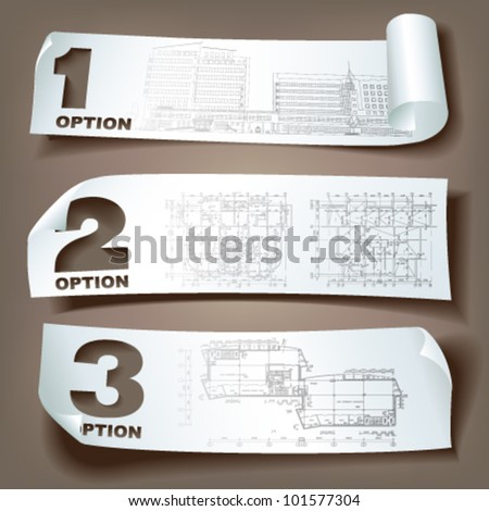 Set of vector sample stickers on neutral background for various use. More in my portfolio. - stock vector