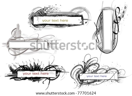 set of vector scope, made in grunge style - stock vector