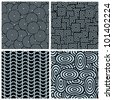 set of vector seamless pattern - stock vector