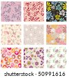 Set of vector seamless patterns. Part 4 - stock vector
