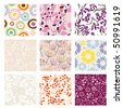 Set of vector seamless patterns. Part 5 - stock vector