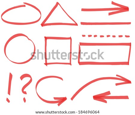 Set of vector simple design elements - stock vector