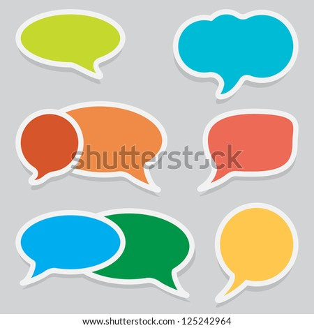 Set of Vector Speech Labels, Bubbles, Stickers, Tags. Vector Illustration EPS10. - stock vector