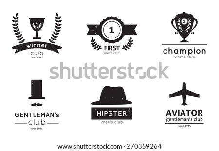 Set of vector sport and winner  logos, badges and design elements - stock vector