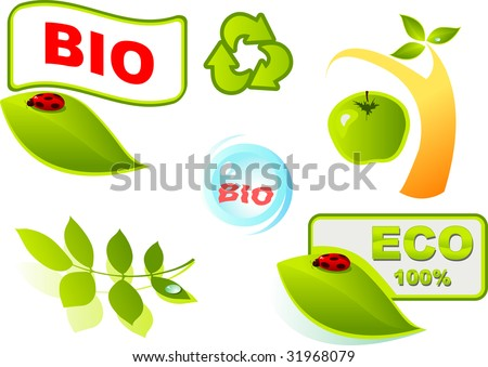 set of vector symbols on ecology