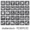 Set of vector transport icon - stock vector